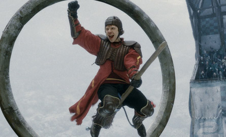 his turn at Quidditch ...